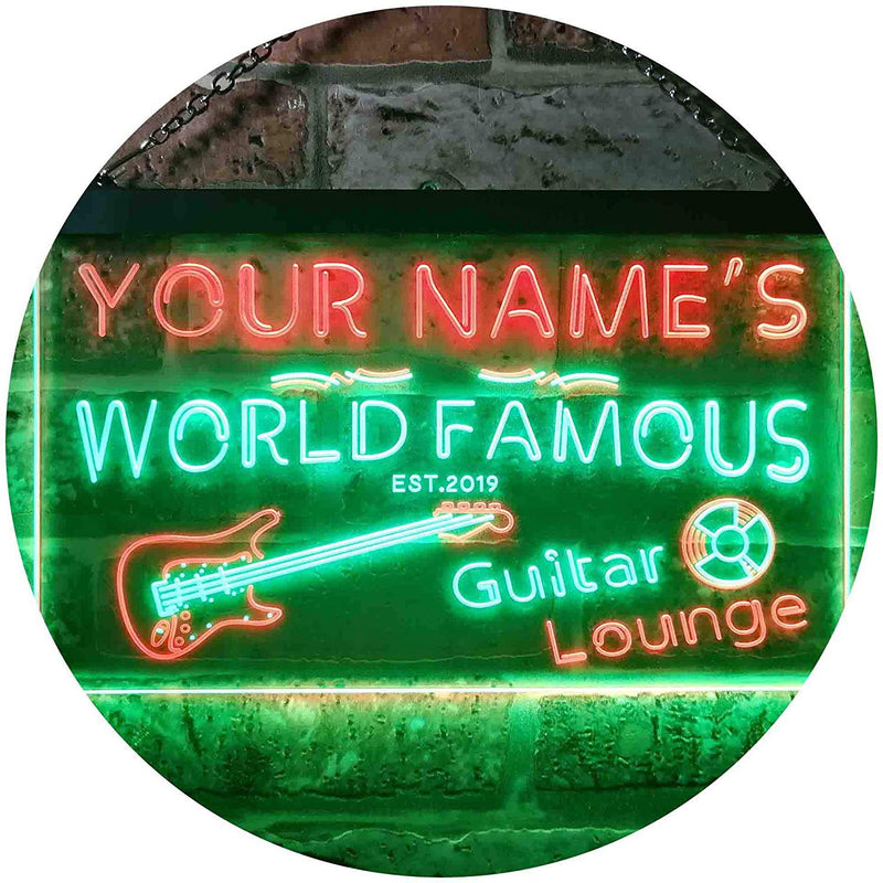 Personalized Guitar Lounge Music Room Studio LED Neon Light Sign - Way Up Gifts