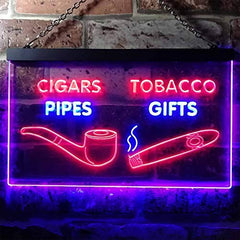 Cigar Pipes Tobacco Gifts LED Neon Light Sign