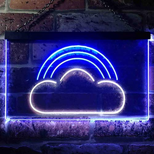 Rainbow Cloud Kids Room Decor LED Neon Light Sign