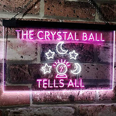 Psychic Fortune Teller Crystal Ball LED Neon Light Sign