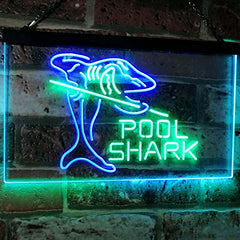 Billiards Pool Shark LED Neon Light Sign