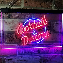 Cocktails & Dreams LED Neon Light Sign