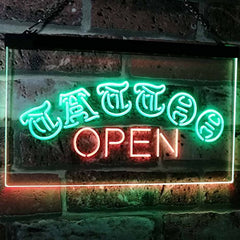 Tattoo Open LED Neon Light Sign