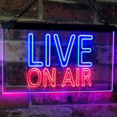 Live On Air LED Neon Light Sign