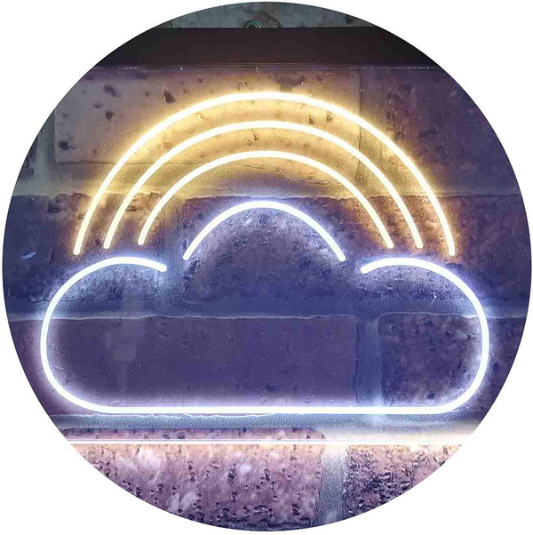 Rainbow Cloud Kids Room Decor LED Neon Light Sign - Way Up Gifts