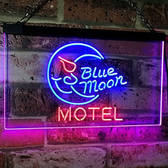 Blue Moon Motel LED Neon Light Sign