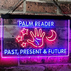 Psychic Fortune Teller Palm Reader LED Neon Light Sign