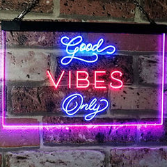 Good Vibes Only LED Neon Light Sign
