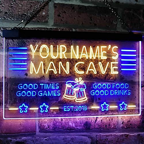 Personalized Beer Mug Cheers Man Cave LED Neon Light Sign
