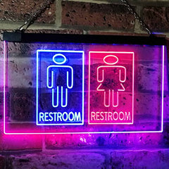 Male Female Restroom LED Neon Light Sign