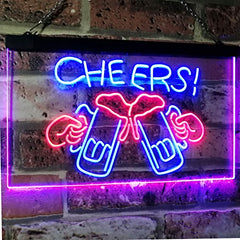 Beer Mugs Cheers LED Neon Light Sign