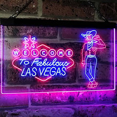 Cowboy Welcome to Las Vegas LED Neon Light Sign