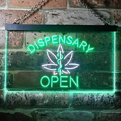 Open Medical Marijuana Dispensary LED Neon Light Sign