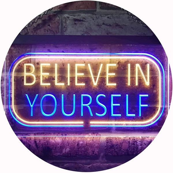Motivational Quote Believe In Yourself LED Neon Light Sign - Way Up Gifts