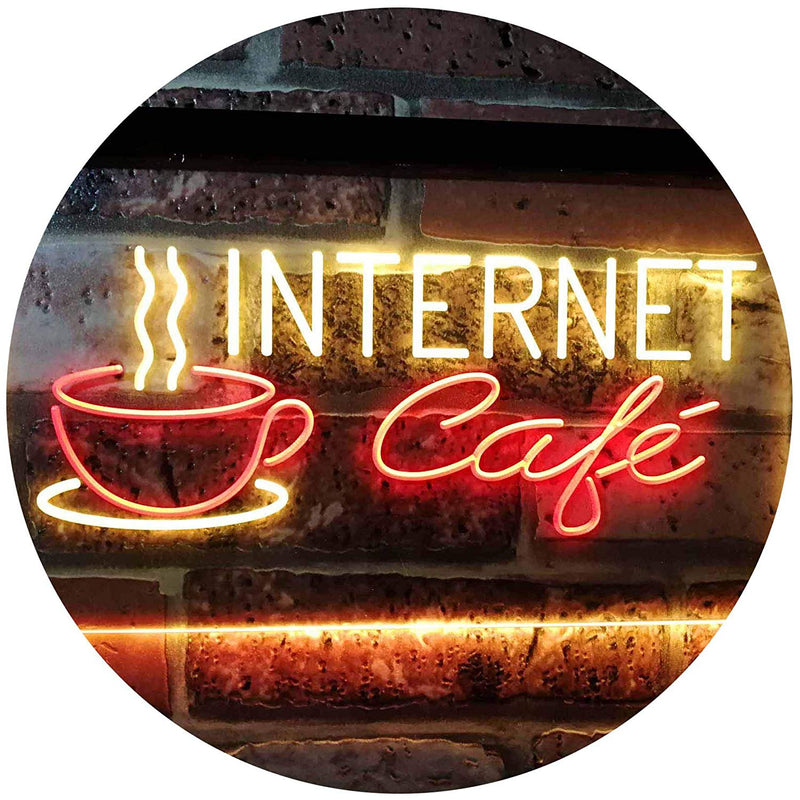 Coffee Wi-Fi Internet Cafe LED Neon Light Sign - Way Up Gifts