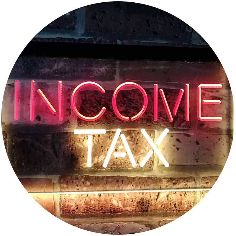 Income Tax Services LED Neon Light Sign - Way Up Gifts