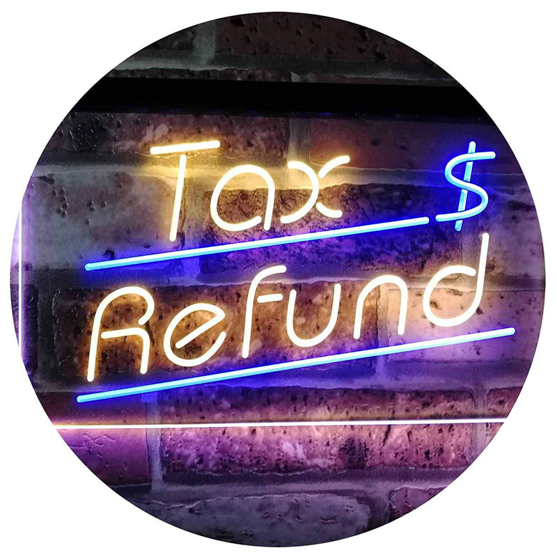 Income Tax Refund LED Neon Light Sign - Way Up Gifts
