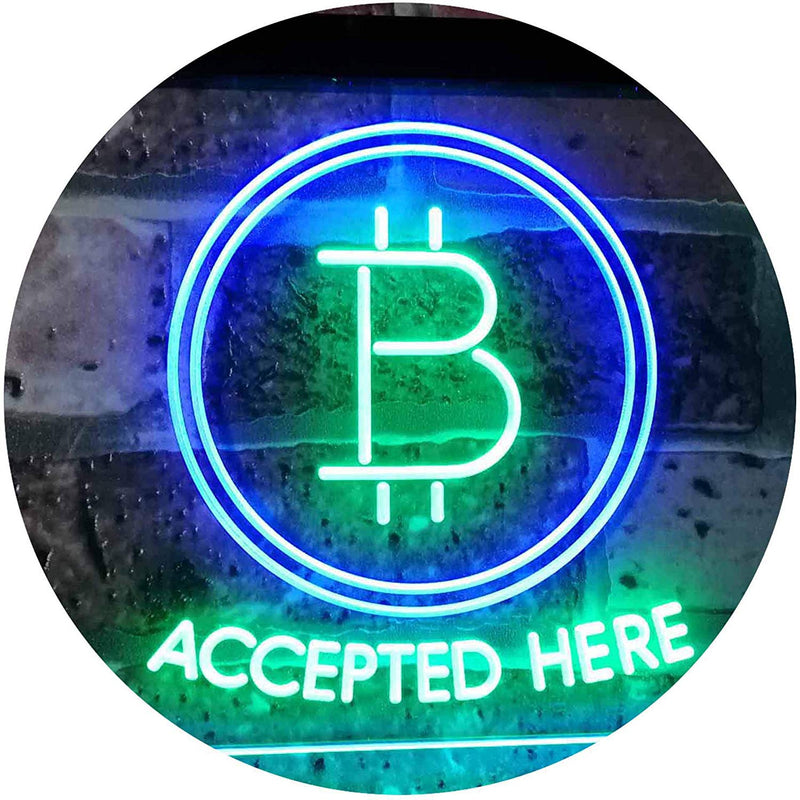 Bitcoin Accepted Here LED Neon Light Sign - Way Up Gifts
