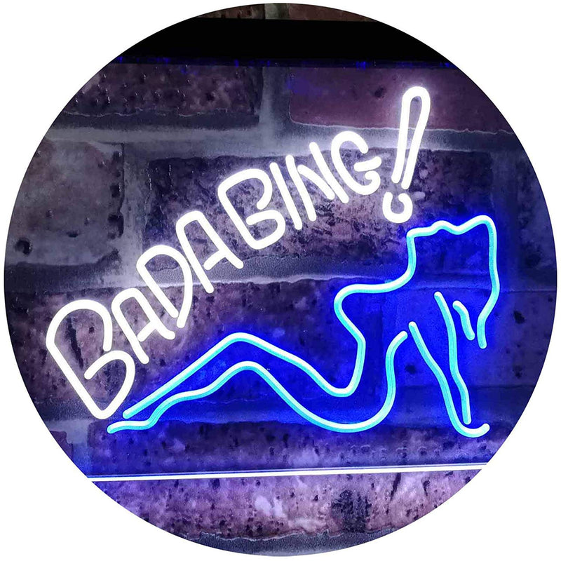 Sexy Girl Bada Bing Man Cave LED Neon Light Sign - Way Up Gifts