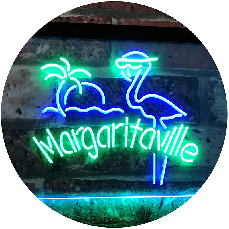 Flamingo Margaritaville LED Neon Light Sign - Way Up Gifts