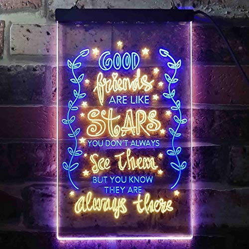Good Friends Like Stars Always There LED Neon Light Sign