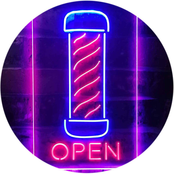 Vertical Barber Pole Open LED Neon Light Sign - Way Up Gifts