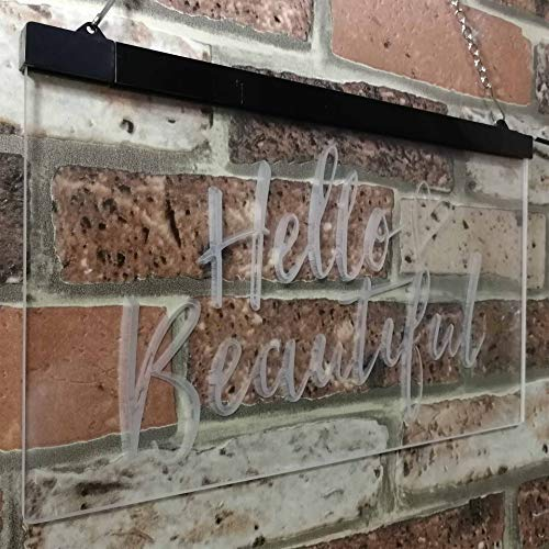 Hello Beautiful LED Neon Light Sign - Way Up Gifts