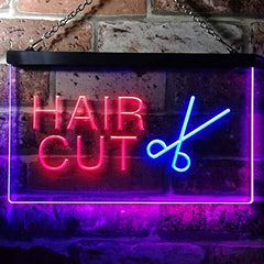 Barber Salon Hair Cut LED Neon Light Sign