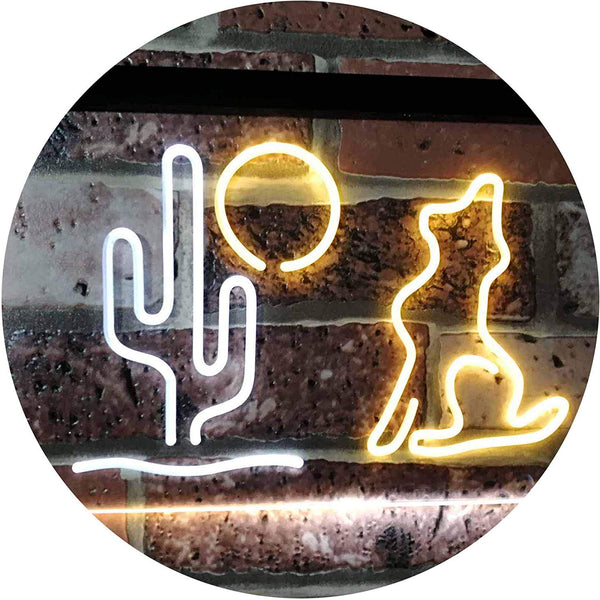 Cactus Moon Wolf LED Neon Light Sign - Way Up Gifts