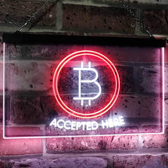 Bitcoin Accepted Here LED Neon Light Sign
