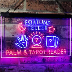 Psychic Fortune Teller Palm Tarot Reader LED Neon Light Sign