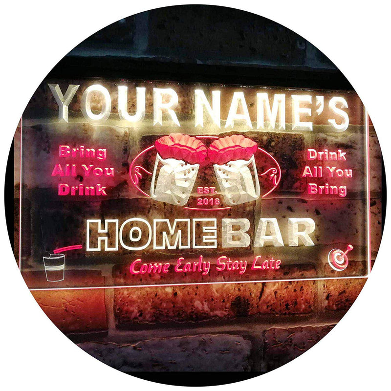Personalized Home Bar LED Neon Light Sign - Way Up Gifts
