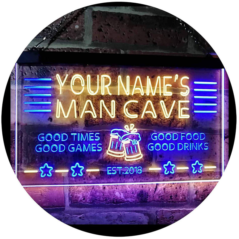 Personalized Beer Mug Cheers Man Cave LED Neon Light Sign - Way Up Gifts
