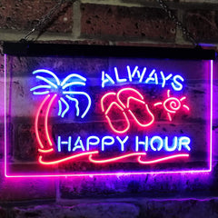 Always Happy Hour LED Neon Light Sign