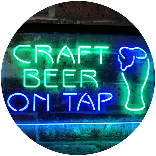 Craft Beer On Tap LED Neon Light Sign - Way Up Gifts
