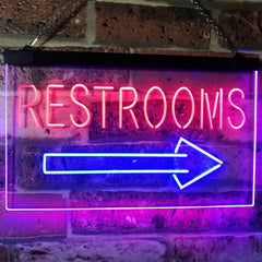Right Restroom Arrow LED Neon Light Sign