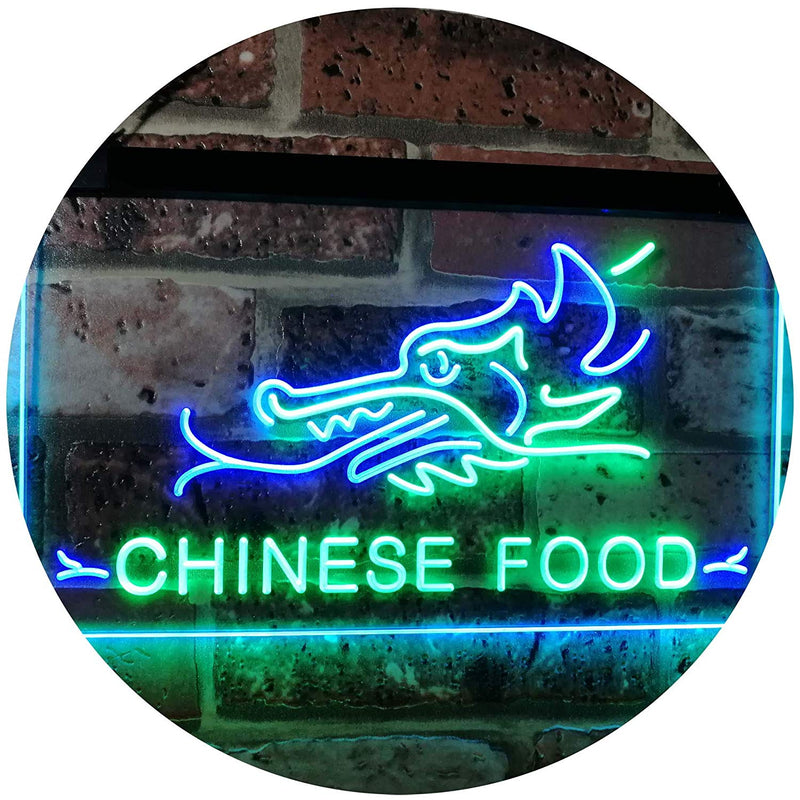 Restaurant Dragon Chinese Food LED Neon Light Sign - Way Up Gifts