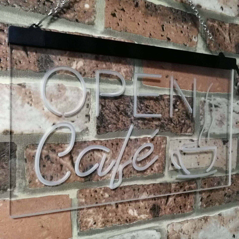 Cafe Open LED Neon Light Sign - Way Up Gifts