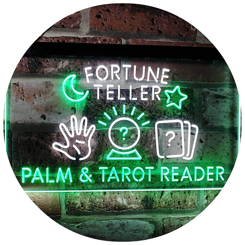 Psychic Fortune Teller Palm Tarot Reader LED Neon Light Sign - Way Up Gifts
