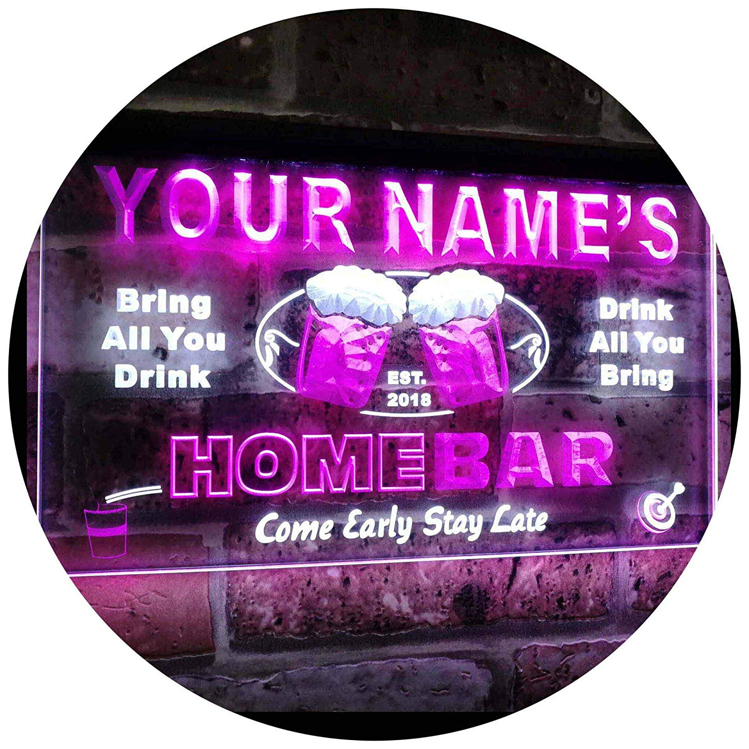 Buy Personalized Home Bar LED Neon Light Sign | Way Up Gifts