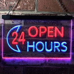 Open 24 Hours LED Neon Light Sign