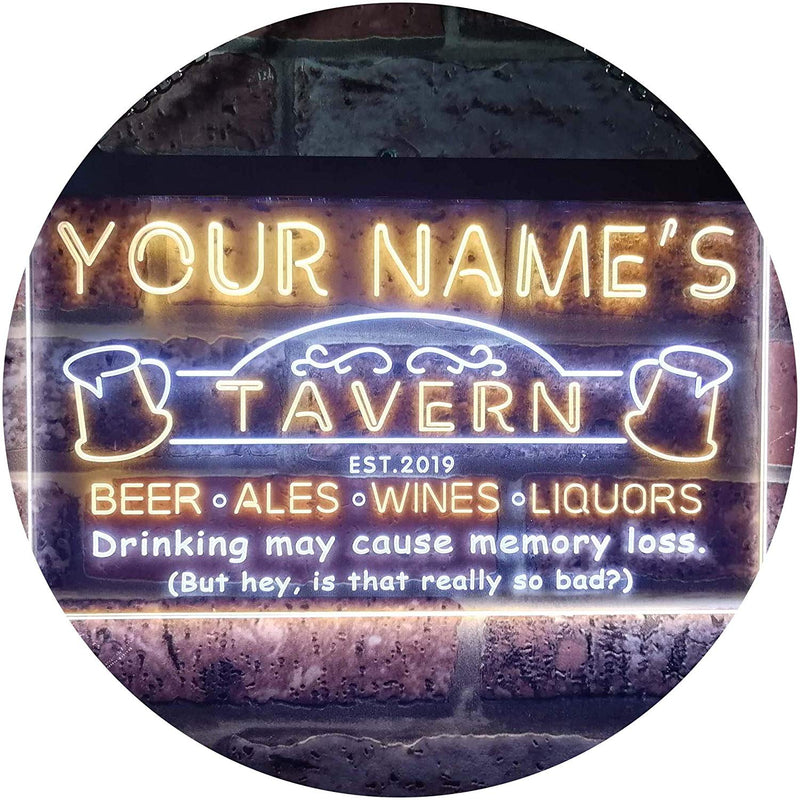 Personalized Tavern Bar LED Neon Light Sign - Way Up Gifts