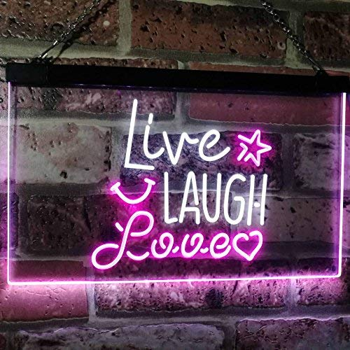 Live Laugh Love LED Neon Light Sign