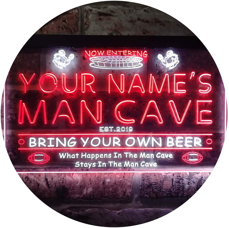 Personalized Sports Football Theme Man Cave LED Neon Light Sign - Way Up Gifts