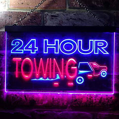 24 Hour Towing LED Neon Light Sign
