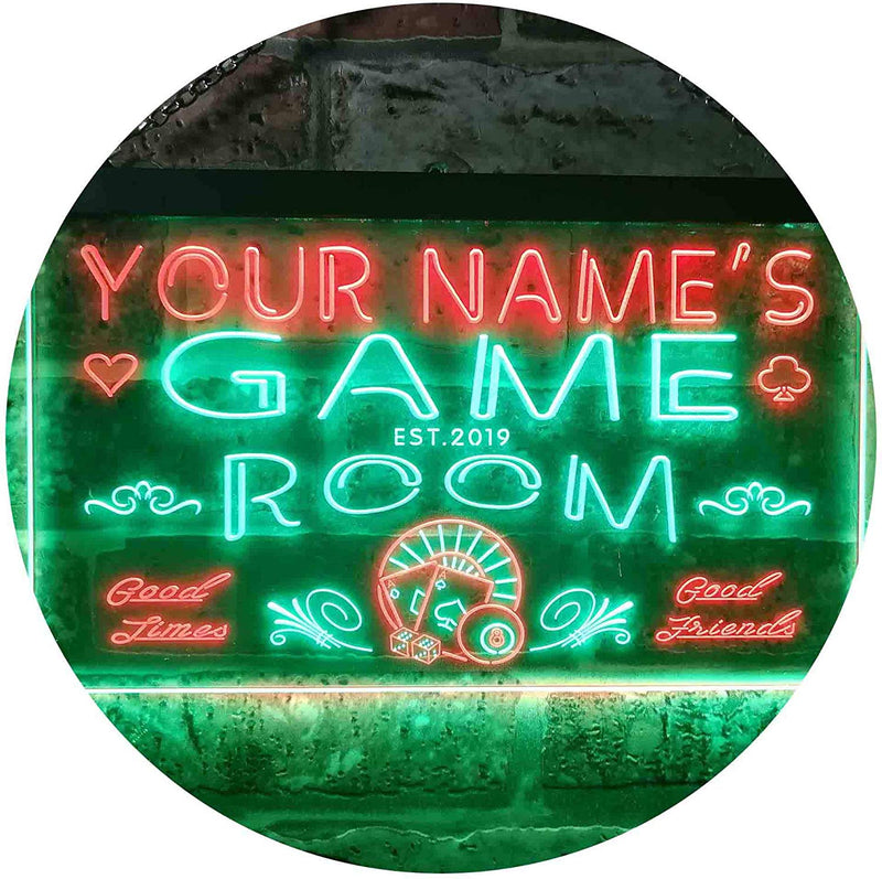 Personalized Game Room LED Neon Light Sign - Way Up Gifts