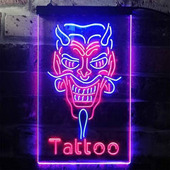 Hannya Mask Tattoo LED Neon Light Sign