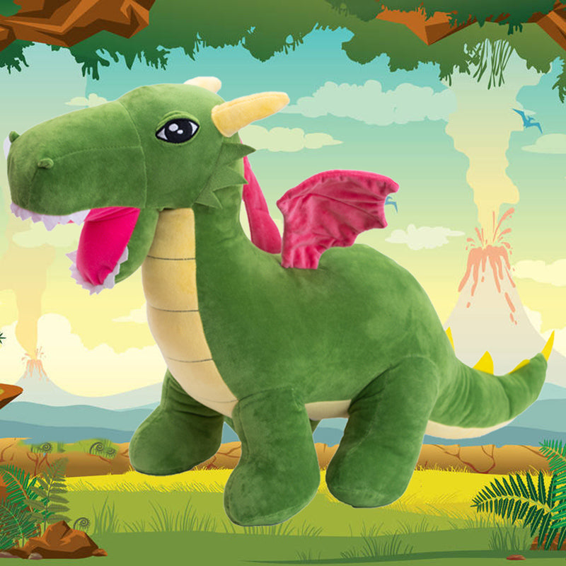 Big Dragon Dinosaur Stuffed Animal Plush Toy - Way Up Gifts