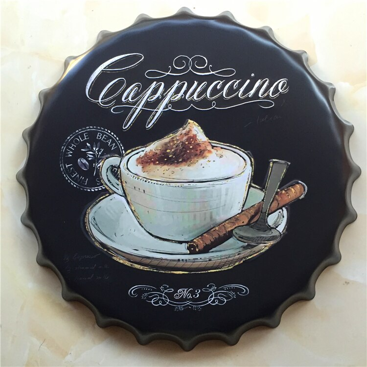 Vintage Cappuccino Coffee Sign - Way Up Gifts