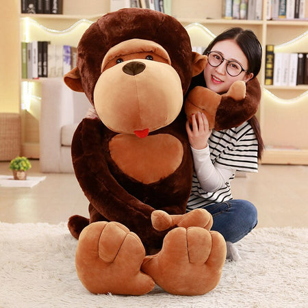Big Stuffed Animal Monkey Plush - Way Up Gifts